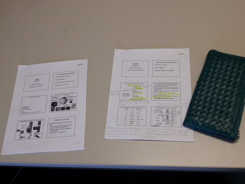 Slides and notes to study.