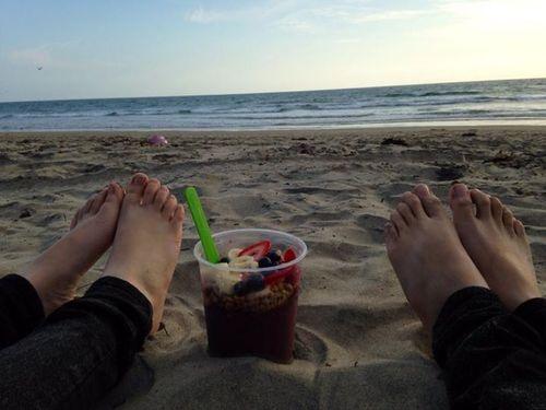Banzai bowls at the beach!
